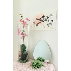 Aquarelle Oiseau Hermine