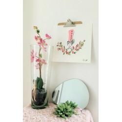 Aquarelle Bigoudène fleurie