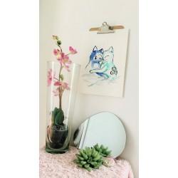 Aquarelle Amour de chats