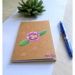 bloc notes à fleurs