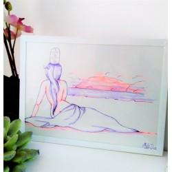 Cadre femme nue