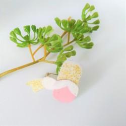 Broche bretonne rose pale