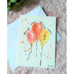 Carte ballons d'anniversaire