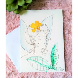 Carte portrait de fée