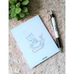 Bloc notes Chat et son stylo