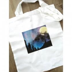 """Tote Bag """"La nuit à Carnac"""""""