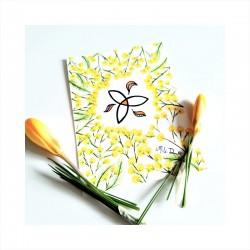 carte aquarelle mimosa