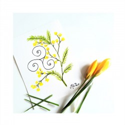 Carte bretonne mimosa