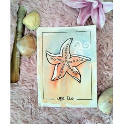 Carte étoile de mer